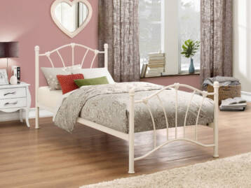 Birlea Sophia Cream Metal Bed 3ft Single