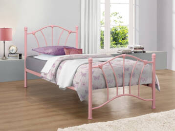 Birlea Sophia Pink Metal Bed 3ft Single
