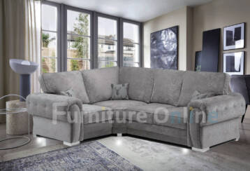 Vegas Fullback 4 SEATER LEFT Corner Grey