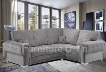 Vegas Fullback 4 SEATER RIGHT Corner Grey