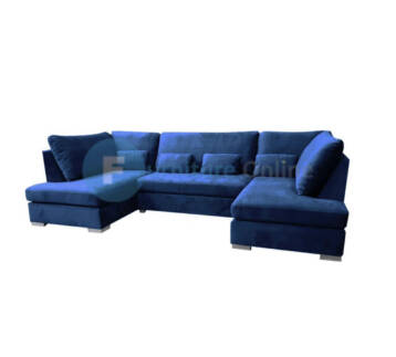 BELGRAVIA U SHAPE CORNER SOFA ROYAL BLUE